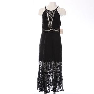 Free People Lace Black Maxi Dress 12